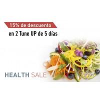 En la compra de 2 Tune up de 5 días -15% de descuento