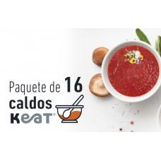 Paquete de 16 caldos de huesos Keat®