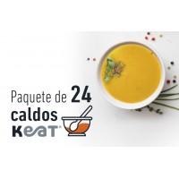 Paquete de  24 caldos de huesos Keat®